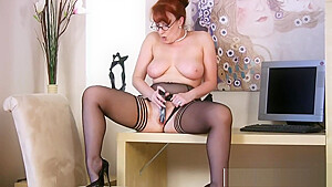 Adorable Mommy Red Gives Blowjob Good Hot Step-son