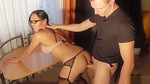GERMAN MILF BOSS IN SEXY LINGERIE SEDUCE TEEN WORKER TO ANAL