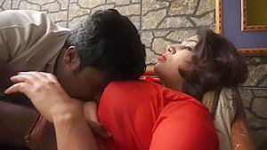 Hot desi shortfilm 33 – Big boobs pressed hard, kissed in orange blouse