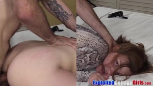 Naughty Young coed Clove fed jizz after fucking in her 1st porn